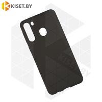 Силиконовый чехол матовый для Samsung Galaxy A21 / A215 черный