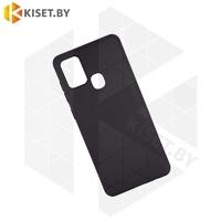 Силиконовый чехол матовый для Samsung Galaxy A21S / A217 черный