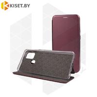 Чехол-книжка Book Case 3D с визитницей для Samsung Galaxy A21S / A217 бордовый