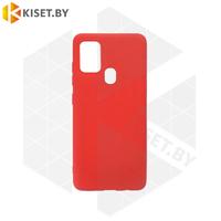 Силиконовый чехол Matte Case для Samsung Galaxy A21s красный