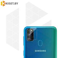 Защитное стекло на заднюю камеру для Samsung Galaxy A41 прозрачное