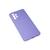 Soft-touch бампер Silicone Cover для Samsung Galaxy A52 лавандовый с закрытым низом