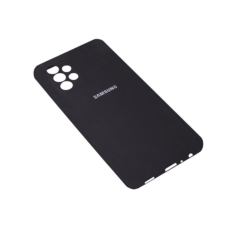 Soft-touch бампер Silicone Cover для Samsung Galaxy A52 черный с закрытым низом