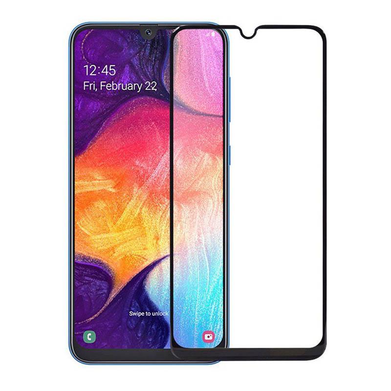 Защитное стекло полной проклейки Full glue для Samsung Galaxy M21s черный