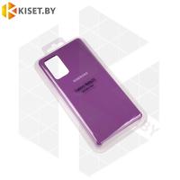 Soft-touch бампер Silicone Cover для Samsung Galaxy Note 20 фиолетовый