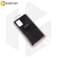 Soft-touch бампер Silicone Cover для Samsung Galaxy Note 20 черный