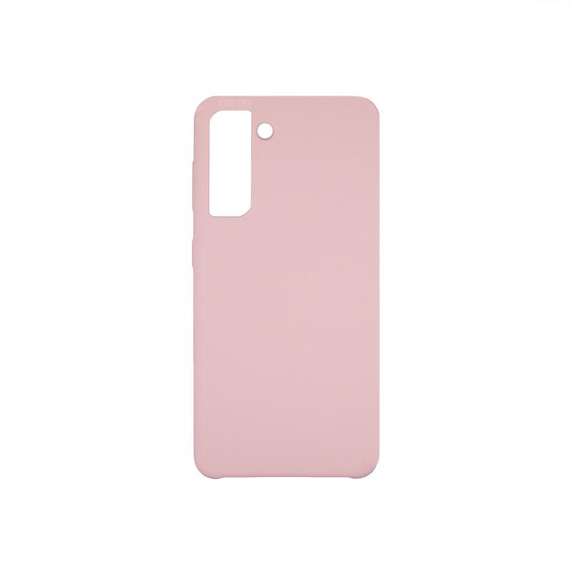 Soft-touch бампер Silicone Cover для Samsung Galaxy S21 розовый песок