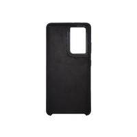 Soft-touch бампер Silicone Cover для Samsung Galaxy S21 Ultra черный