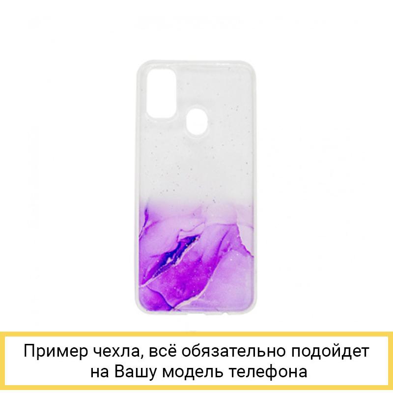 Силиконовый чехол Aquarelle для Samsung Galaxy M31 фиолетовый