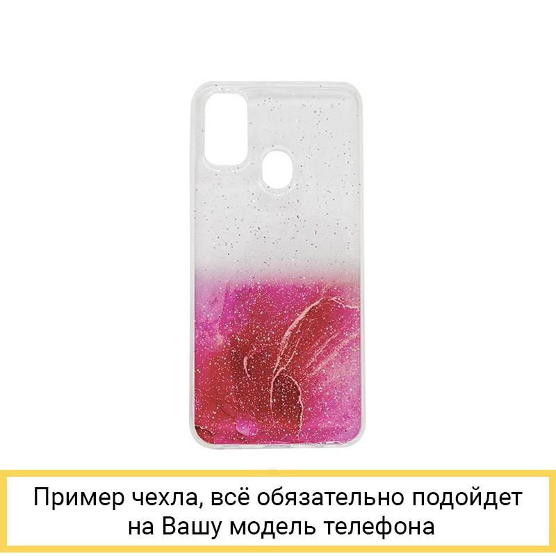 Силиконовый чехол Aquarelle для Samsung Galaxy A21S / A217 красный