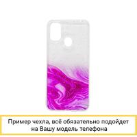 Силиконовый чехол Aquarelle для iPhone X / XS ярко-розовый
