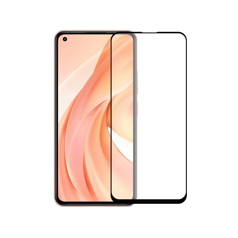 Защитное стекло полной проклейки Full glue для Xiaomi Mi 11 Lite черное