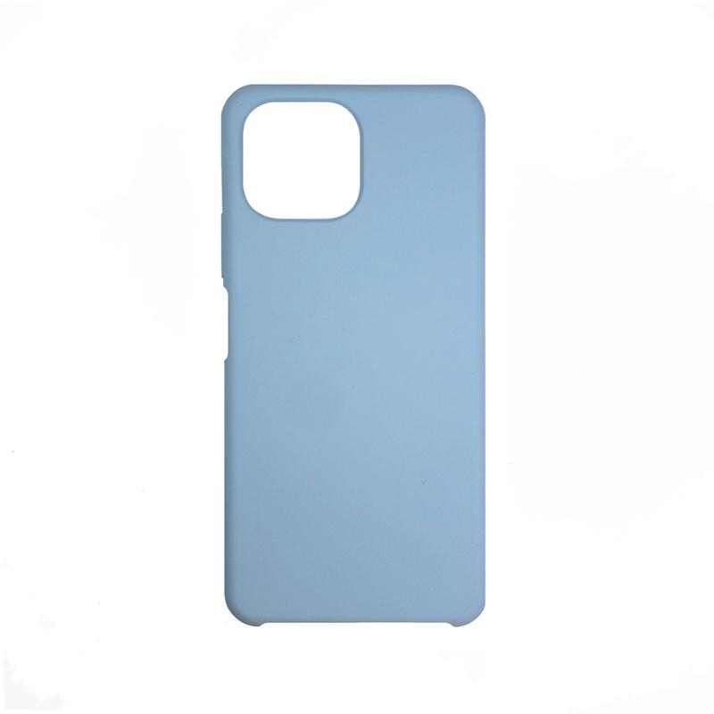 Soft-touch бампер Silicone Cover для Xiaomi Mi 11 Lite васильковый