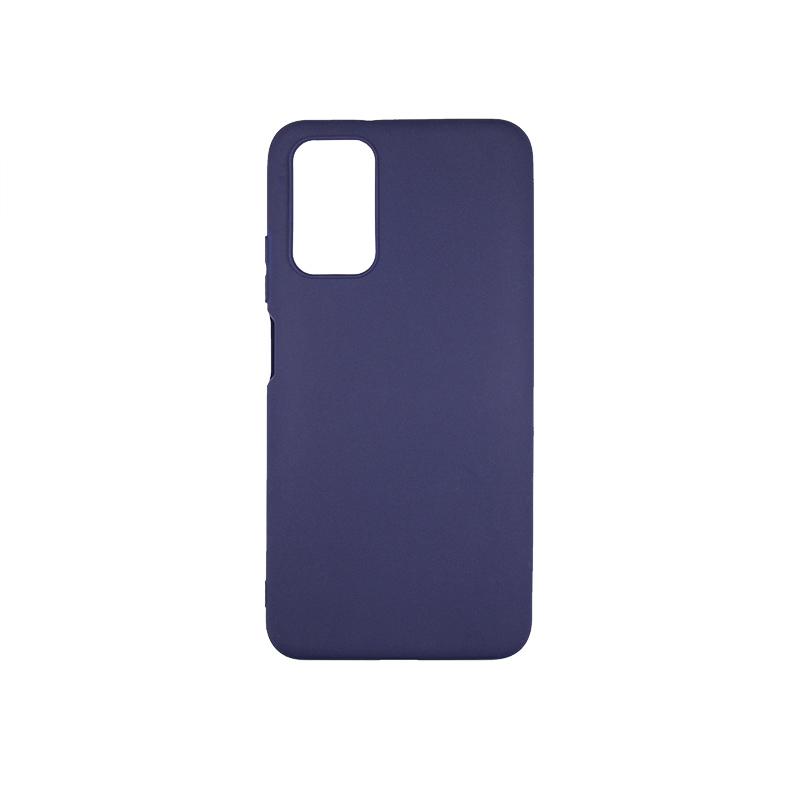 Силиконовый чехол матовый для Xiaomi POCO M3 синий