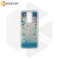 Силиконовый чехол Quicksand для Samsung Galaxy A21S / A217 синий