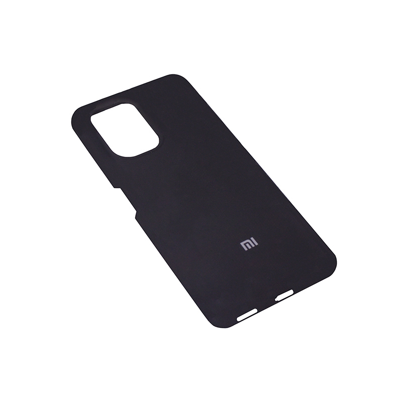 Soft-touch бампер Silicone Cover для Xiaomi Redmi K40 черный с закрытым низом