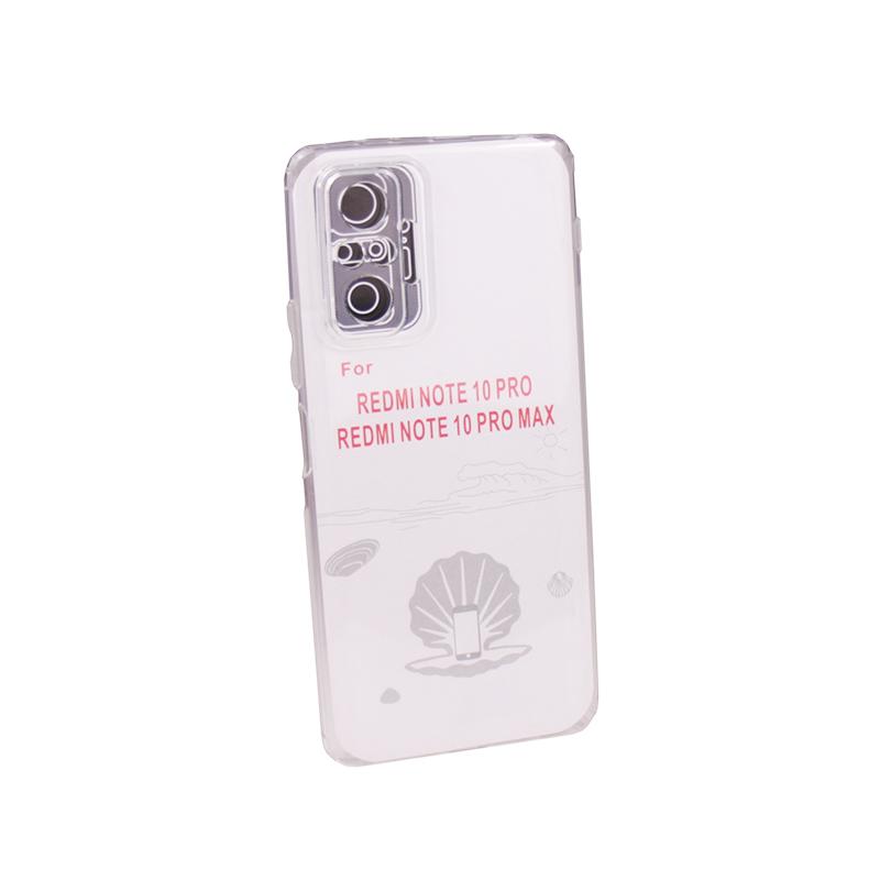 Силиконовый чехол Ultra Thin TPU для Xiaomi Redmi Note 10 Pro / 10 Pro Max прозрачный