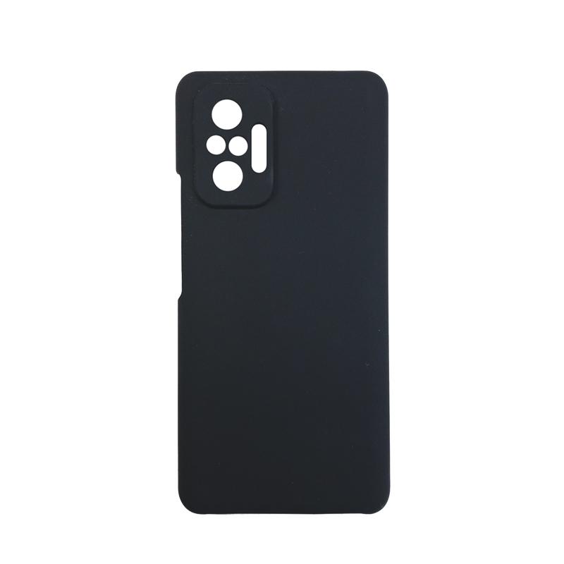 Soft-touch бампер Silicone Cover для Xiaomi Redmi Note 10 Pro черный