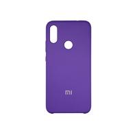 Soft-touch бампер Silicone Cover для Xiaomi Redmi Note 7 / 7 Pro фиолетовый