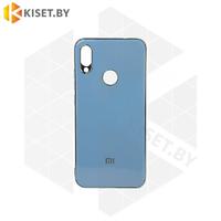 Силиконовый чехол Plating для Apple iPhone 7 / 8 Plus голубой