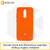 Soft-touch бампер Silicone Cover для Xiaomi Redmi 8A оранжевый с закрытым низом #39