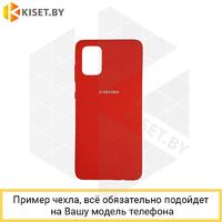 Soft-touch бампер Silicone Cover для Xiaomi Redmi 4X темно-красный