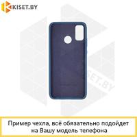 Soft-touch бампер Silicone Cover для Samsung Galaxy M51 темно-синий с закрытым низом