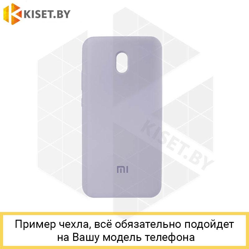 Soft-touch бампер Silicone Cover для Samsung Galaxy M51 фиалковый с закрытым низом