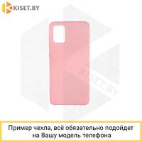 Soft-touch бампер Silicone Cover для Samsung Galaxy M51 розовый с закрытым низом
