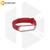 Силиконовый ремешок для Xiaomi Mi Band 3 / Mi Band 4 красный с белой окантовкой